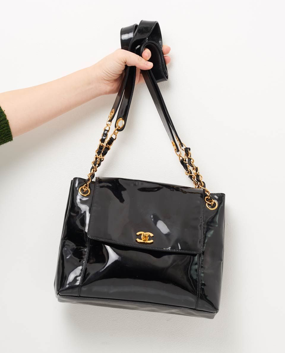 266aaf4d13c7 vintage chanel patent leather cc tote gallery | CocoChanel....Beyond ...