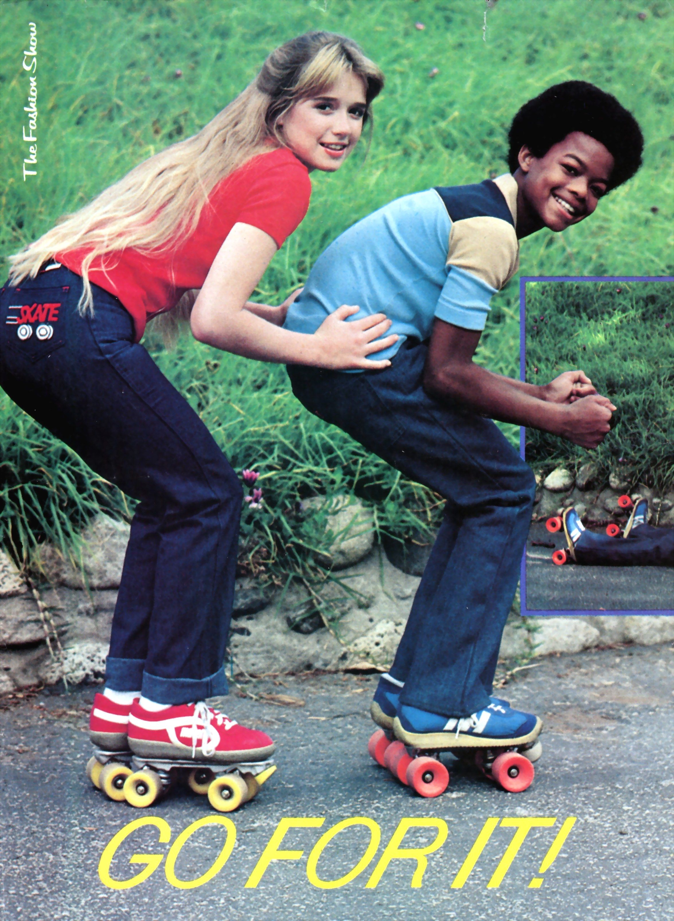 """Roller skates + cast of """"Diff'rent Strokes"""" = I'm goin' for it!"""