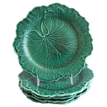 Check out this item at One Kings Lane! Wedgwood Majolica Leaf Plates, S/5