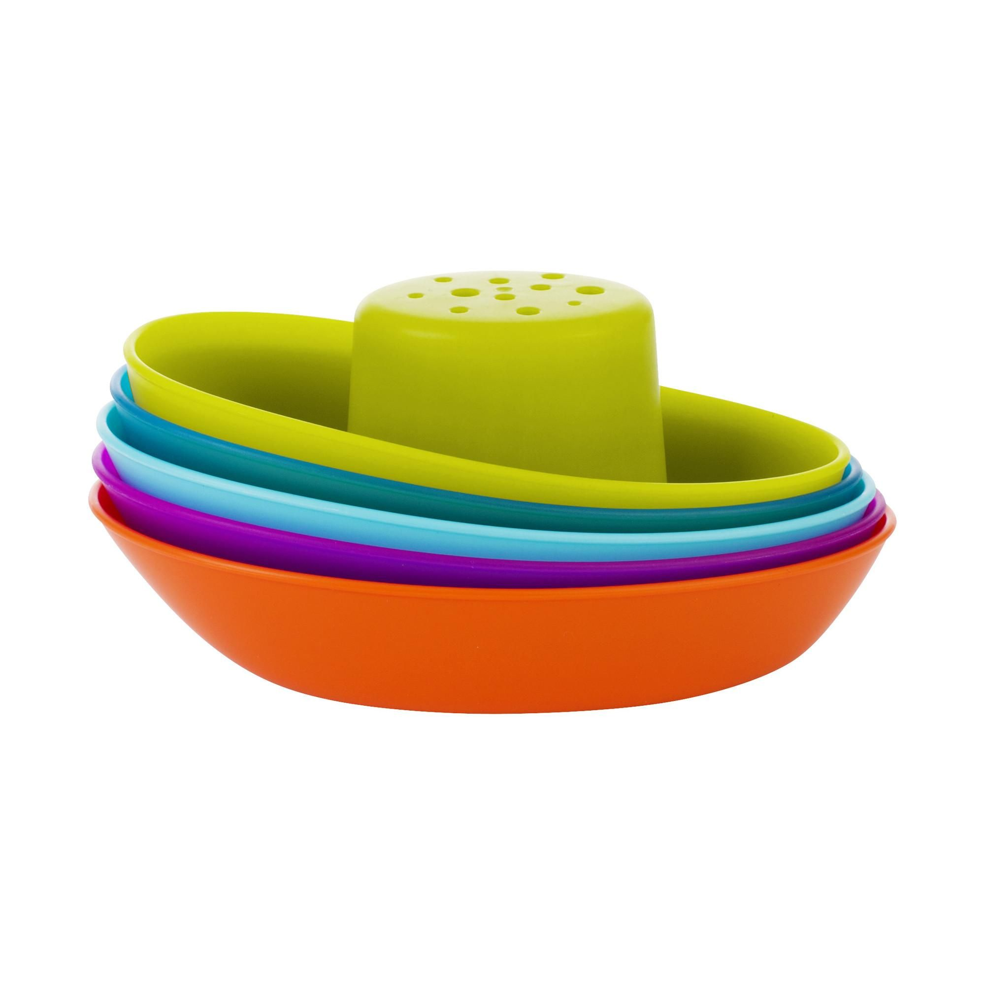 Amazon.com : Boon Fleet Stacking Boats Bathing Toy : Bathtub Toys ...