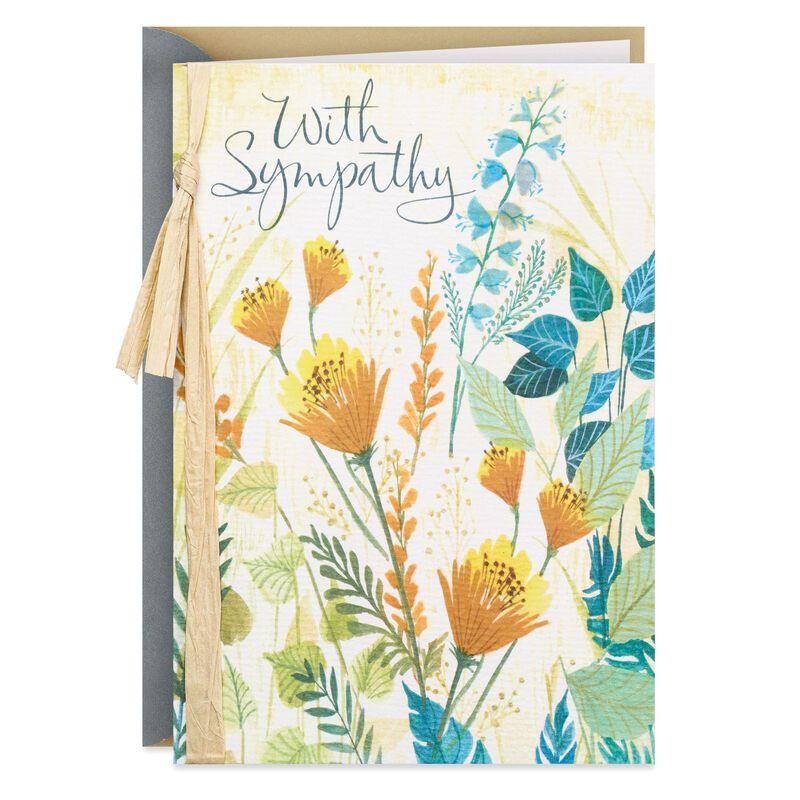 Handmade Sympathy CardWildflowers