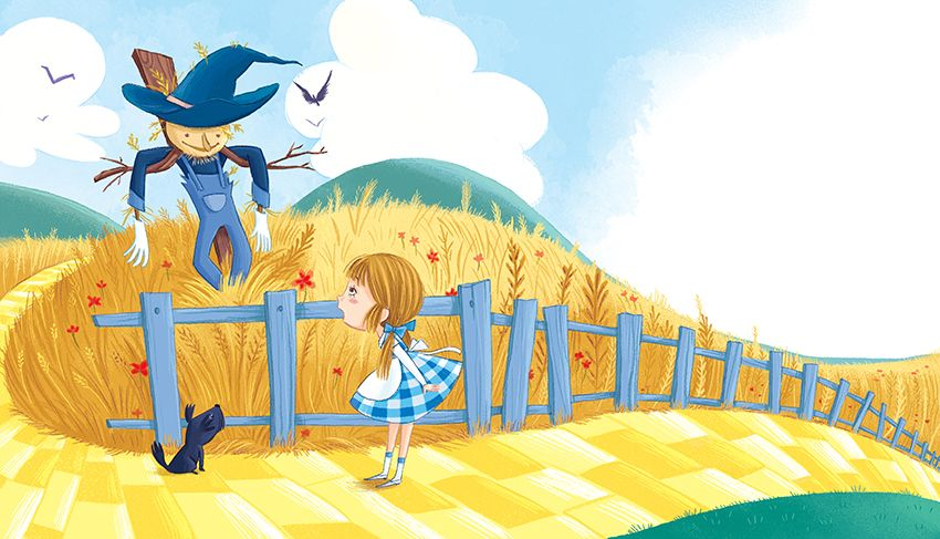 The Wonderful Wizard Of Oz Barbara Bongini Wizardofoz Oz Dorothy Toto Yellowbrickroad Glinda Whirlwind Baum Scarecrow Tinman Lion Mago De Oz Mago