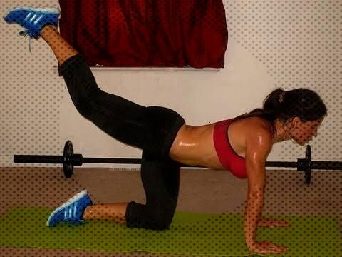 VIDEO - Improve Your Rear View Workout: Melissa Bender (includes 1-legged squats...You can find Squ