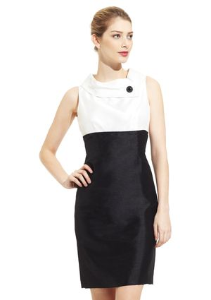 TAHARI ARTHUR S. LEVINE Sleeveless Shantung Dress