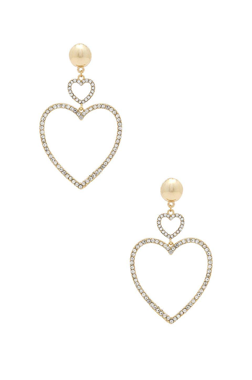 7ab1bb973 Ettika Two Hearts Drop Earrings in Gold | Please be mine in 2019 ...