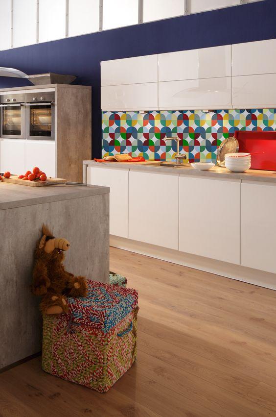 Nischenrückwand küche mit nischenrückwand im geometric look geometric style
