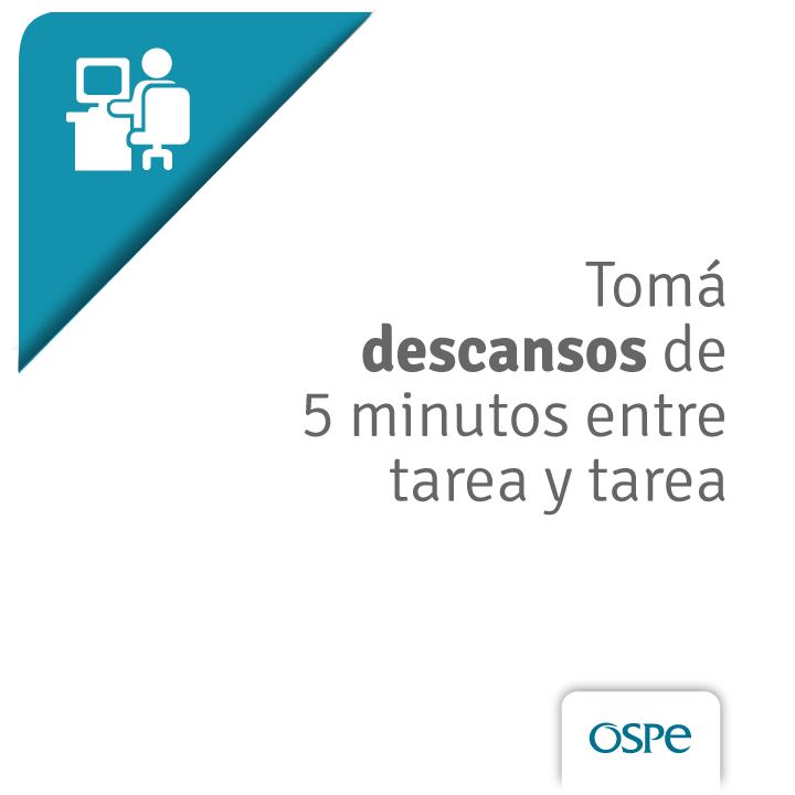 Durante la jornada laboral también es importante incorporar hábitos que permitan obtener una mejor calidad de vida.   #OSPeTeCuida