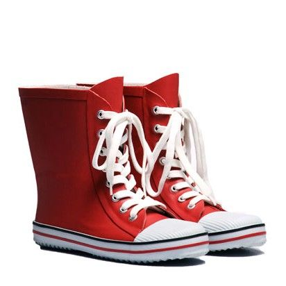 7f0a35ac1fe7 City Red Gumboot (chuck taylor style wellies!) City Red Gumboot - WANT!