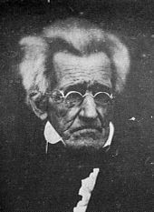 Former President Andrew Jackson - 7th President of the United States, at age 78, circa 1845.