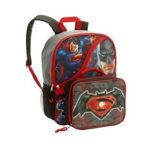 8db57332dd0a Elementary School Backpack Batman vs Superman Kids Shoulder Book ...