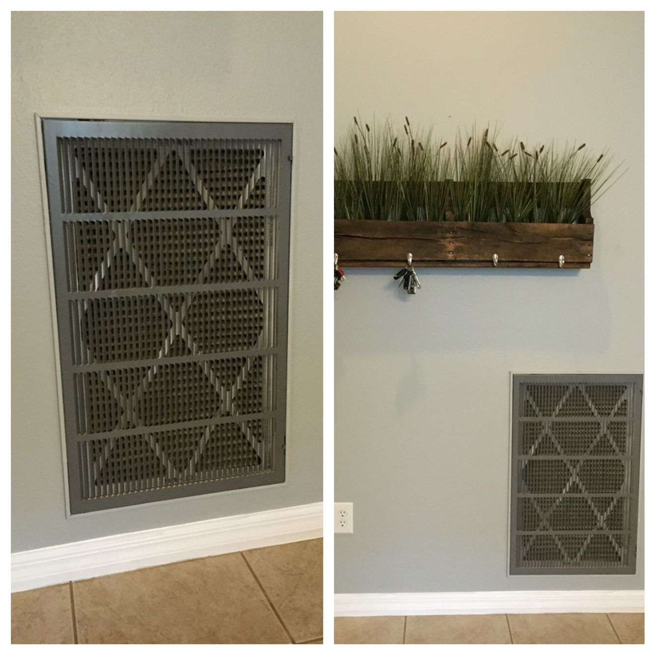 Air Return Makeover We have this huge air return vent in