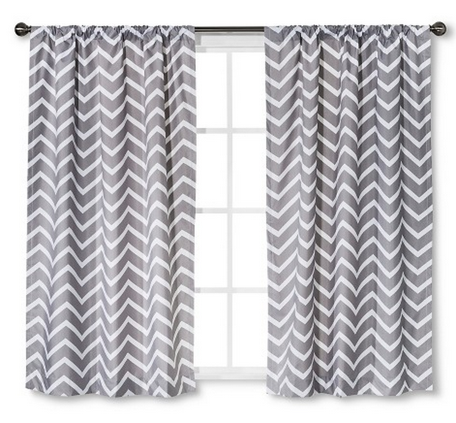 Gray Behrakis Chevron Curtain Chevron Curtains Panel Curtains