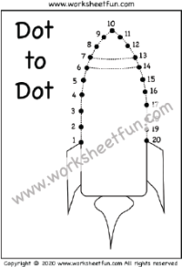 Dot to Dot - Numbers 1-20 / FREE Printable Worksheets ...