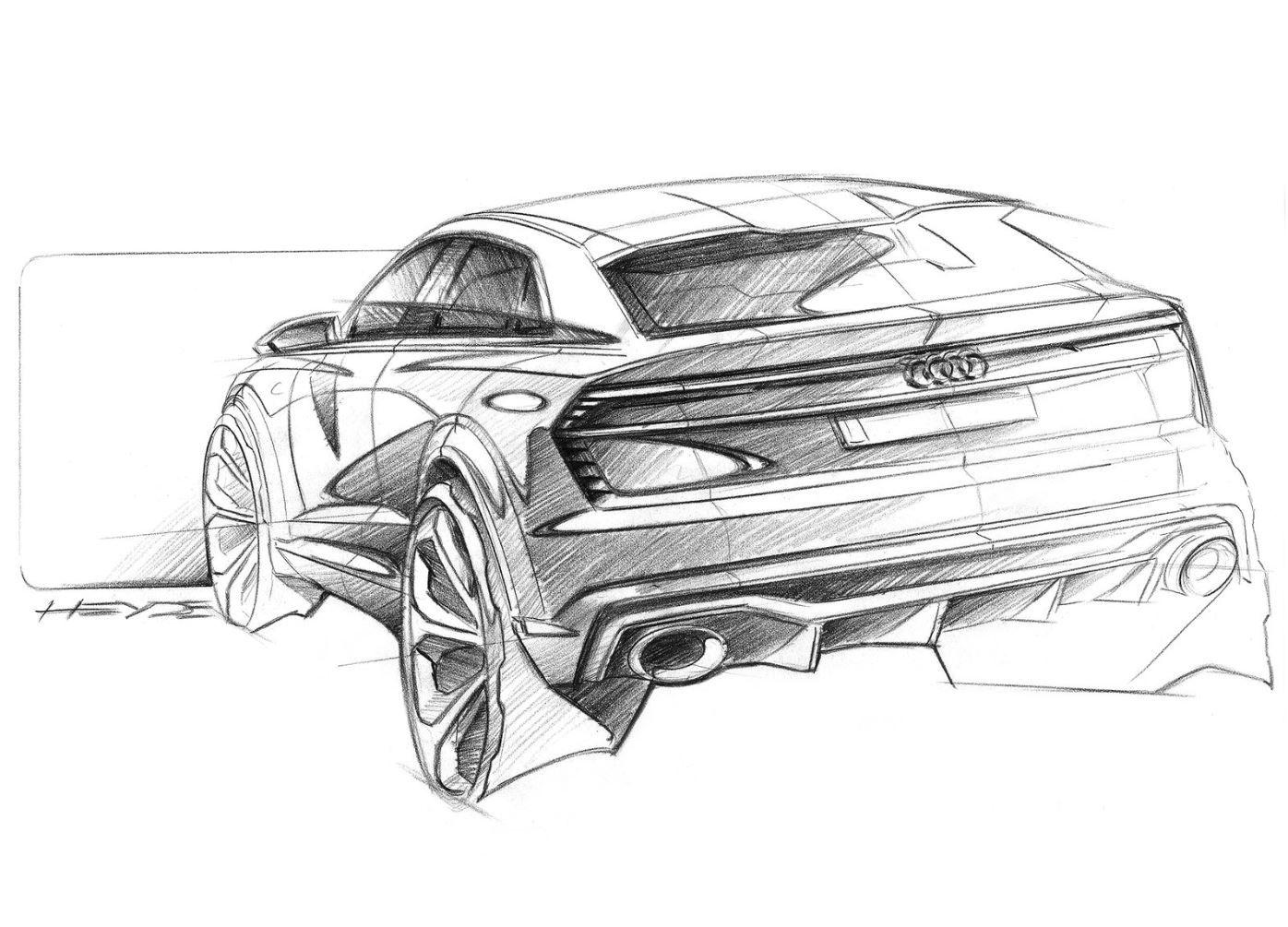 Audi Q8 Sport Concept Rear Quarter Sketch