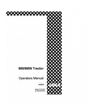 CASE IH DAVID BROWN 885 885N DIESEL TRACTOR OPERATORS