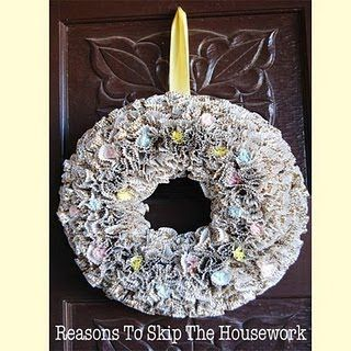 cup cake liner wreath