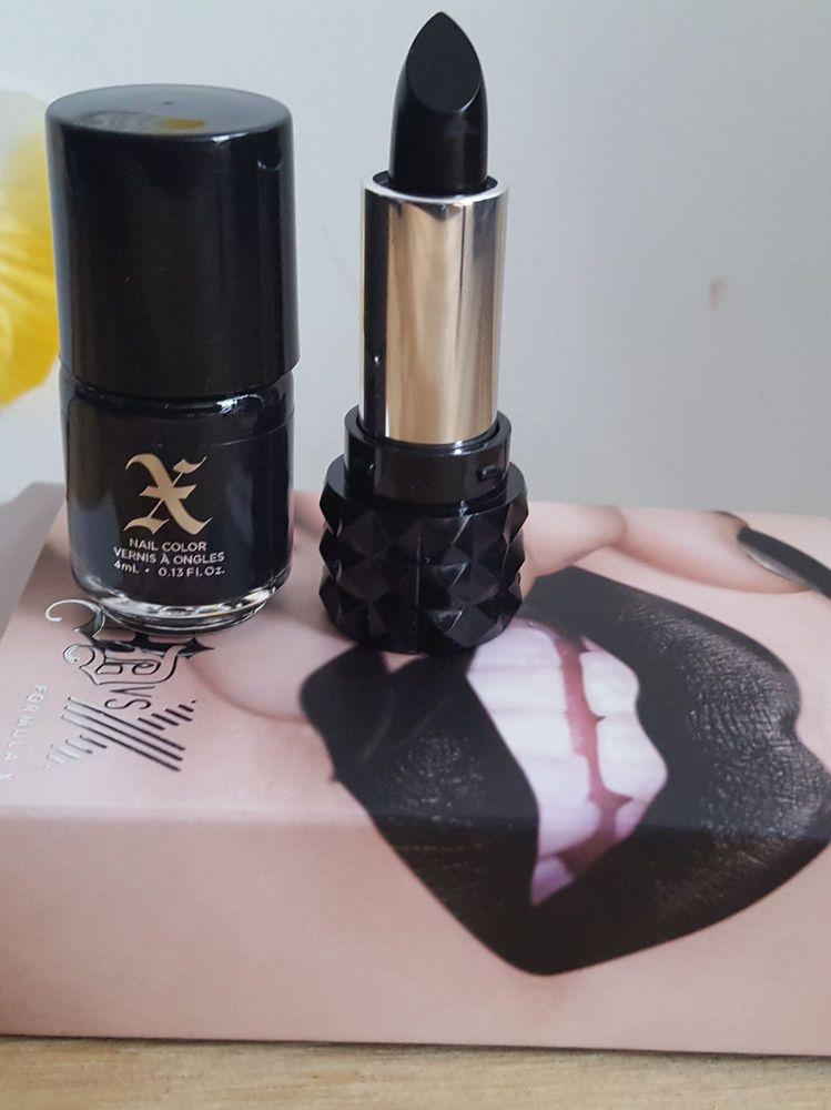 kat von D FORMULA X Studded X Mini Lip Nail Polish Duo SLAYER pitch ...