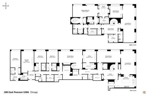 chicago home blueprints. Here s The Floorplan of Penthouse Oprah Just Listed IN Chicago for 7 75  M on the