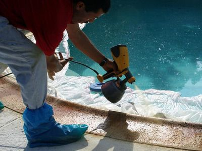 How To Resurface A Pool Patio Pool Makeover Concrete Patio Makeover Pool Remodel