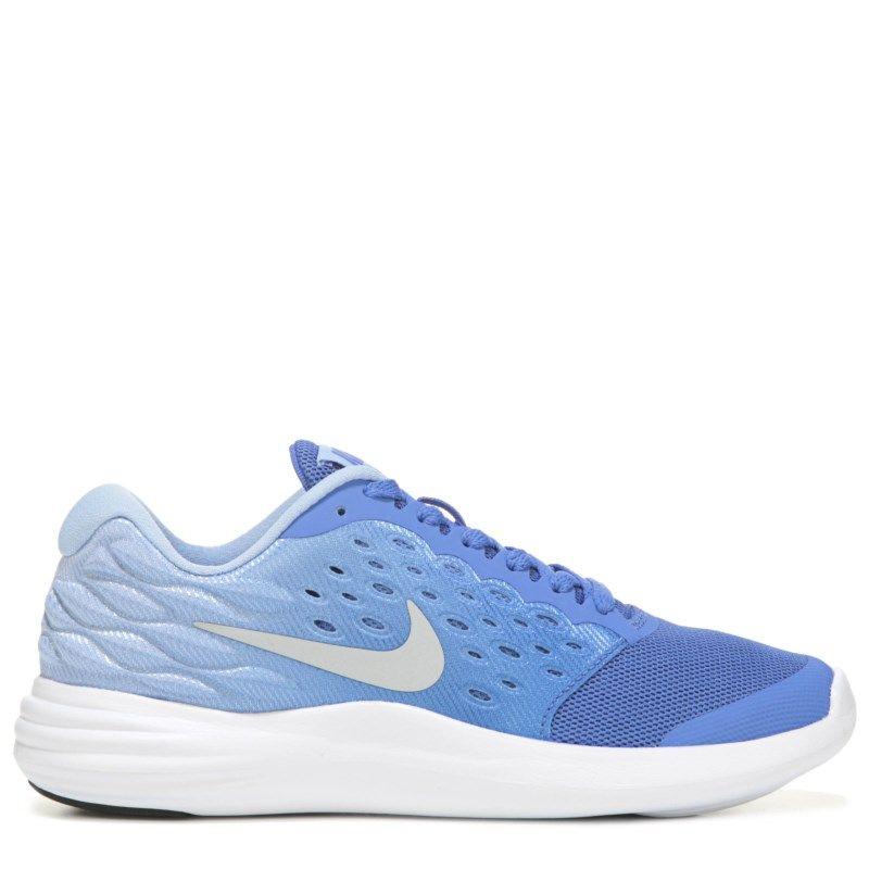Nike Kids' Lunar Stelos Running Shoe Grade School Shoes (Blue/Blue)