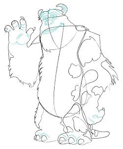 Draw Sully From Monster S Inc Party Planning Pinterest Sully