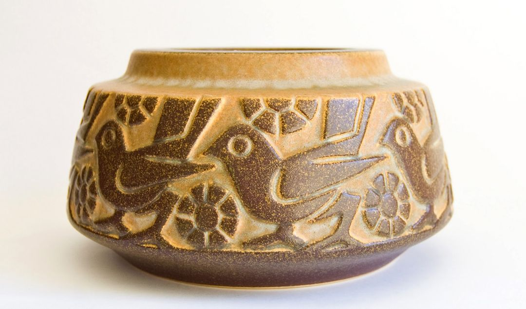 Mid Century Danish Ceramics Bird Motif Bowl Marked No 6428 Image Courtesy Ray Garrod At Scandinavian Ceramic Danish Ceramics Pottery