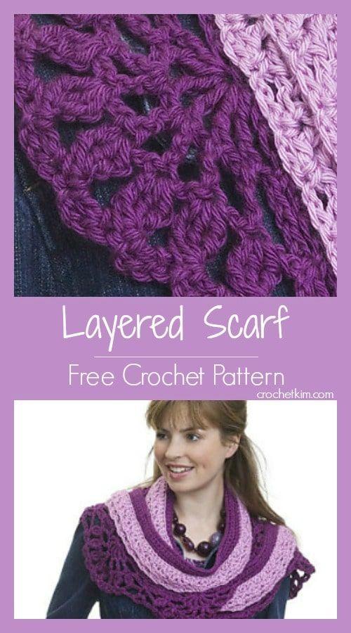 Layered Scarf Free Crochet Pattern