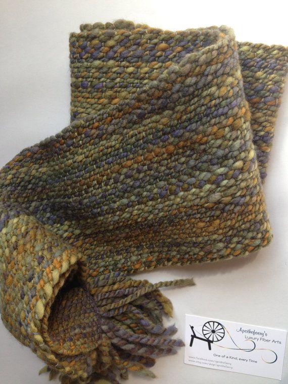 November Nebulous - handspun hand woven merino scarf -  beautiful work! The  fibers on the warp & weft are opposite of what I usually see.