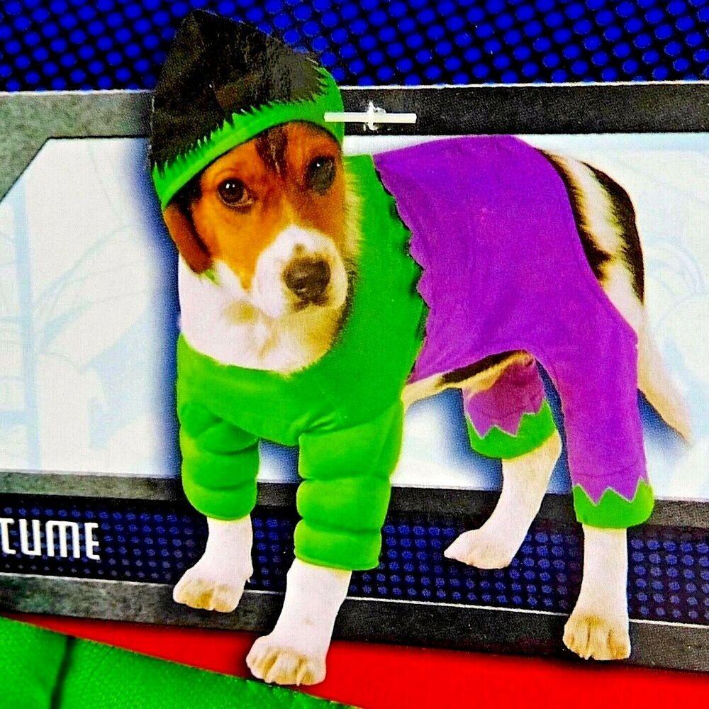 Rubies Small Pet Hulk Costume Dog Cat Halloween Marvel Superhero 2