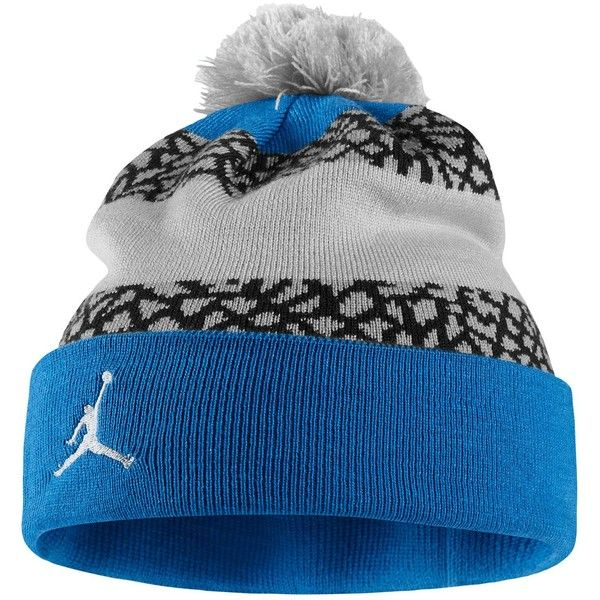 Jordan Jumpman Striped Beanie Adult ( 25) ❤ liked on Polyvore featuring  accessories 7421c2c80eb8