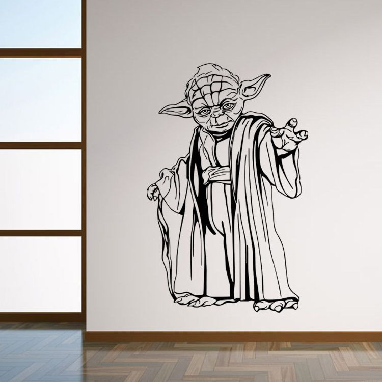 Star Wars Yoda Characters Wall Stickers Poster 8559 Wall Art Decals for kids room Home Decoration  sc 1 st  Pinterest & Master Yoda Wall Decor | Wall Decals | Pinterest | Wall decor Walls ...