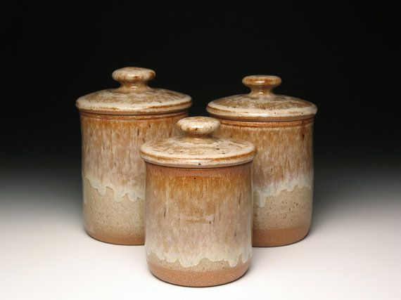 pottery kitchen canister sets kitchen canister set pottery ceramic stoneware earth 21353