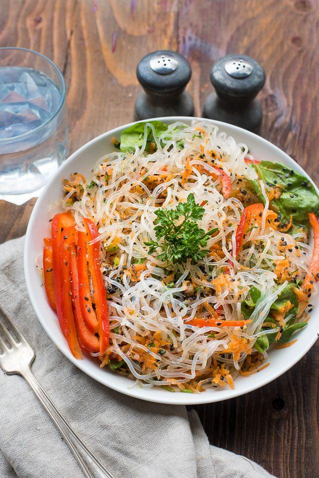 Mixed Veggie And Kelp Noodle Salad Recipe Easy Vegan