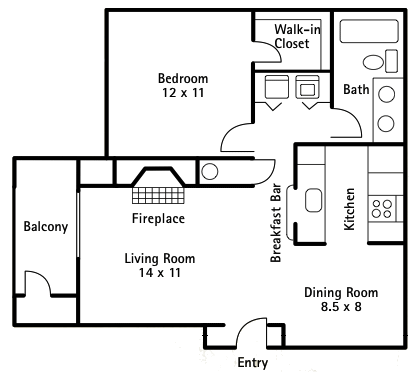 1 bedroom 700 sq ft house plans - expand kitchen into dining room ...