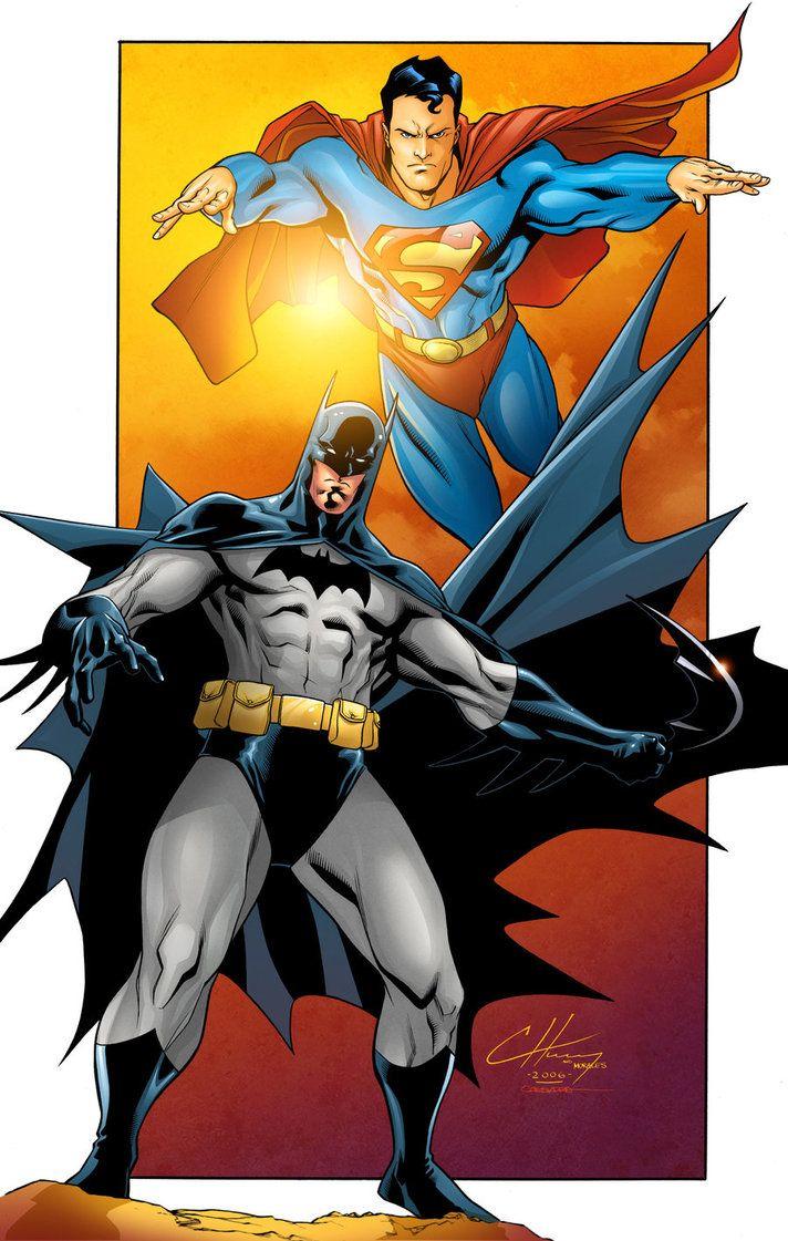 #Superman #Batman #Fan #Art. (World's Finest) By: Gabriel-Cassata. ÅWESOMENESS!!!™ ÅÅÅ+