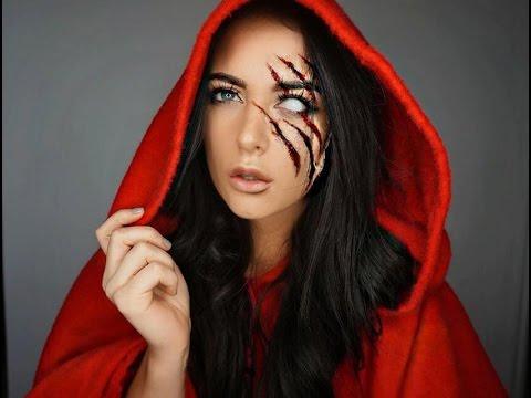 Red Riding Hood Halloween Makeup Tutorial #halloweencostumesformen