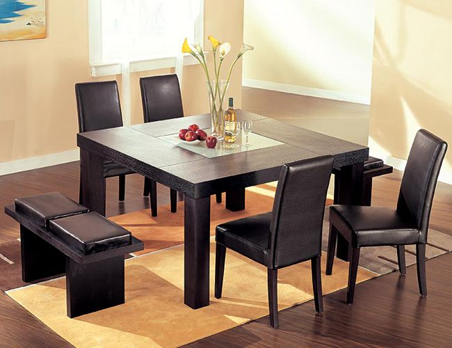 Squre Diing Room Tables  Two Pictures Of Square Dining Table From Stunning Square Dining Room Set 2018