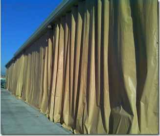 Outdoor Industrial Curtains Akon Curtain And Dividers Custom