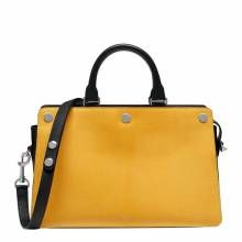 Yellow/Black Leather Chester Tote