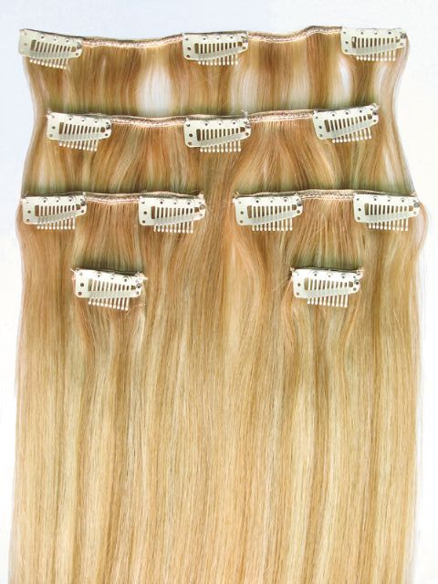 European Clip Ins In 4 Shades Of Blonde And From 18 To 24