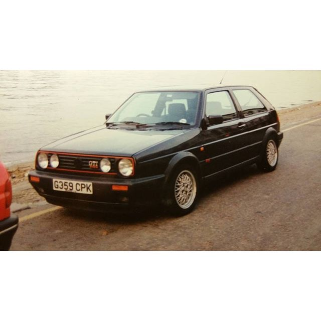 Found it. Remember being pretty happy with myself back in 92' in this. #golfgti16v#putneyrowing by bangersundcash