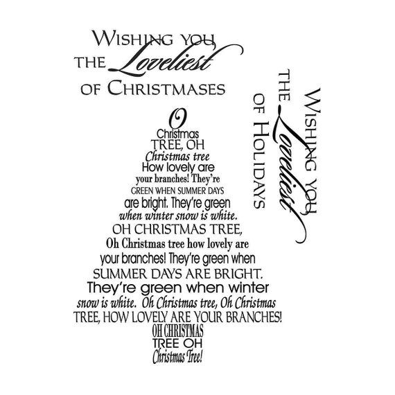 MSE - My Sentiments Exactly - Clear Stamps - Christmas - Oh