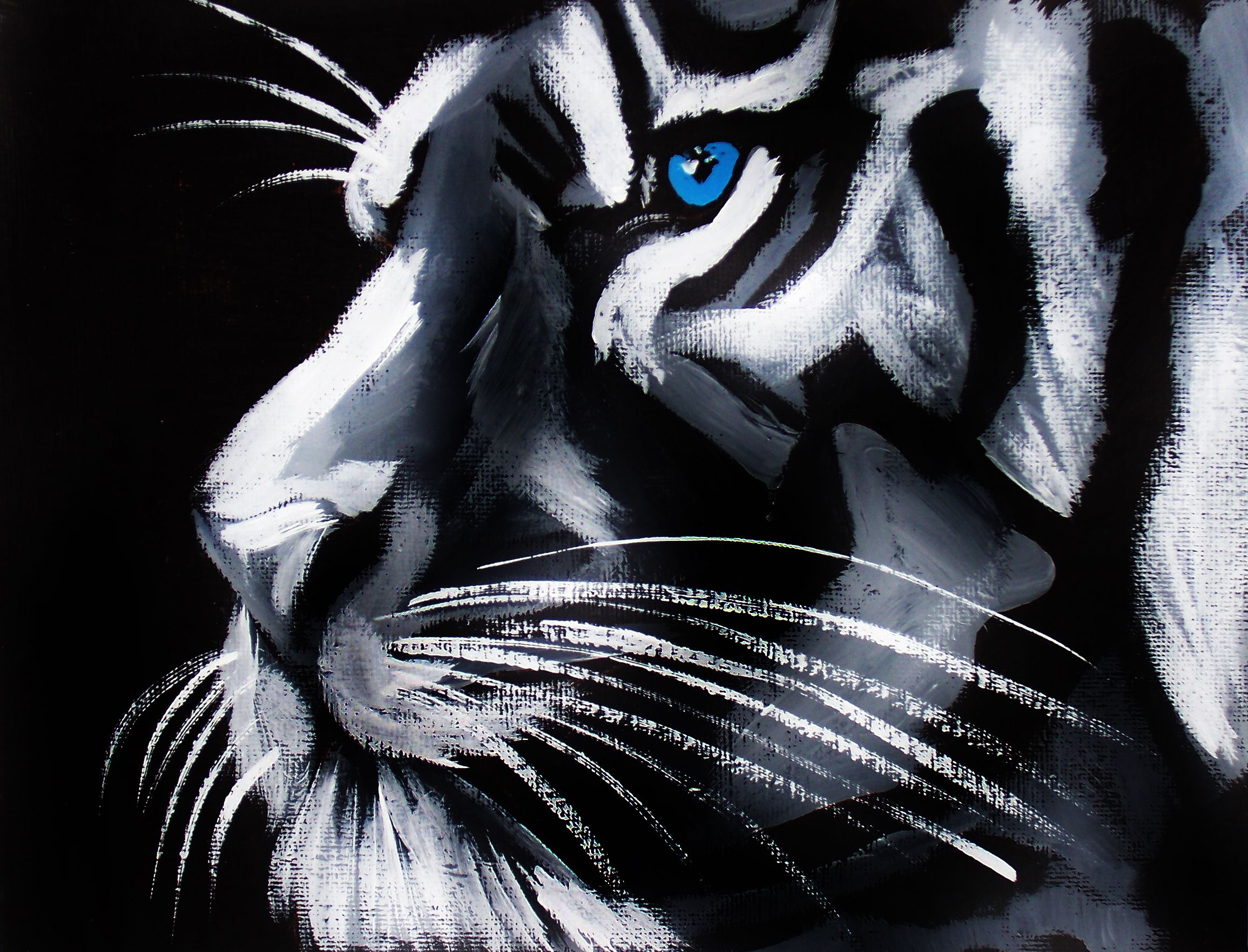 Love white tigers and this is a beautiful painting
