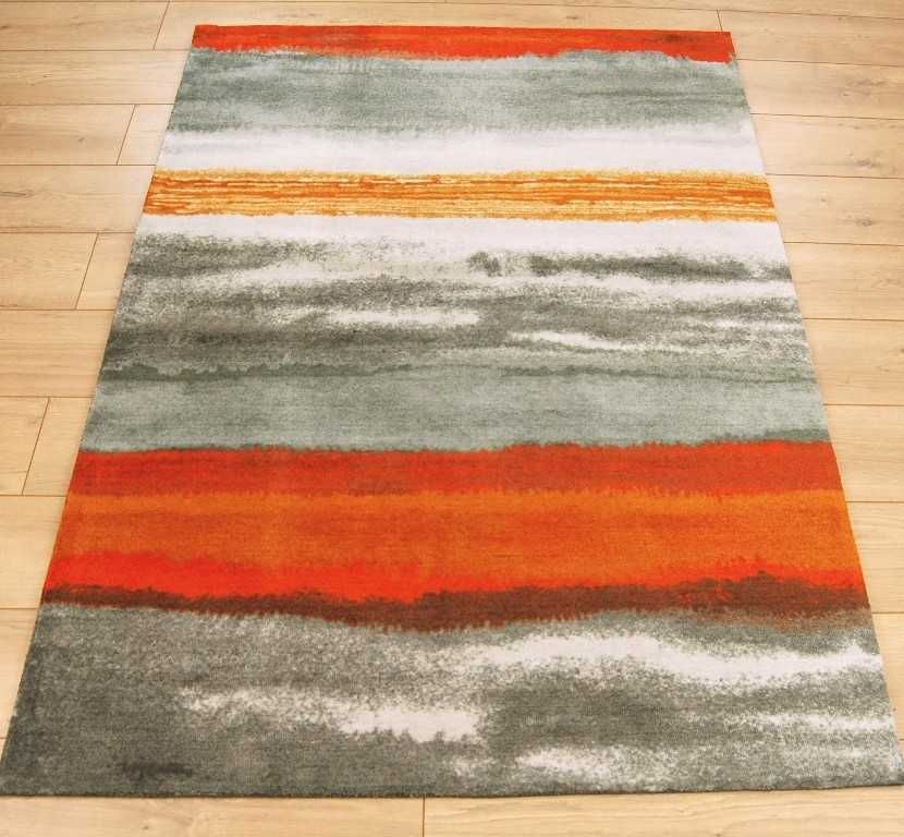 Boca Bc12 Oslo Stripe Orange Rugs Modern