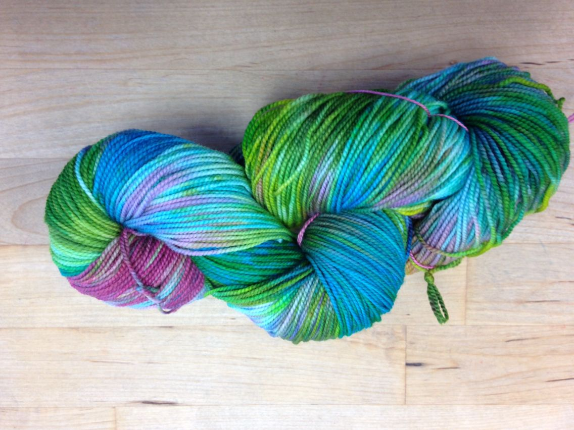 2 ply sock yarn October 2014 Pieces of April