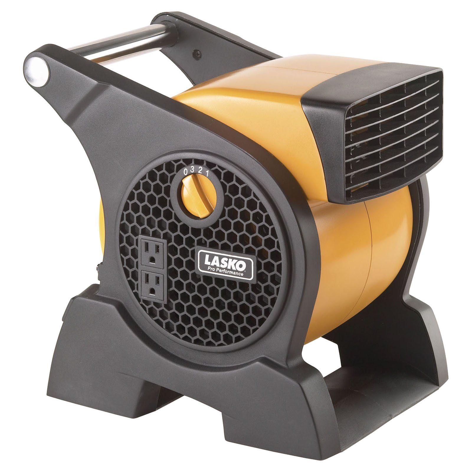 Lasko Pro Performance High Velocity Utility Fan Yellow Portable