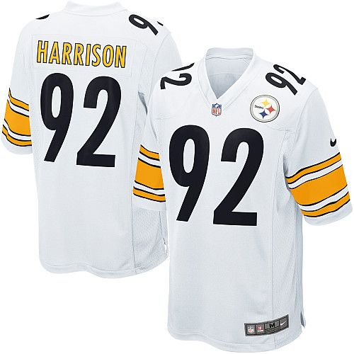 Nike NFL Youth Pittsburgh Steelers 92  James Harrison White Jerseys ... deff30b96de5