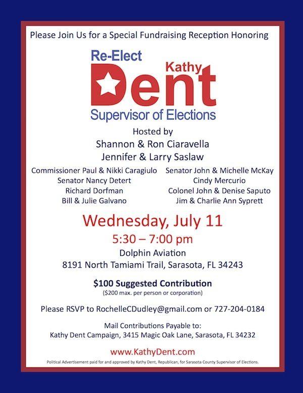 political fundraiser flyer