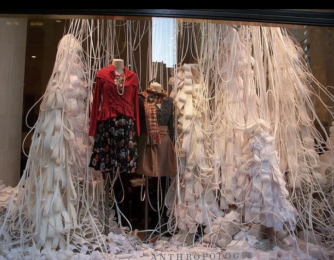 Anthropologie Christmas windows