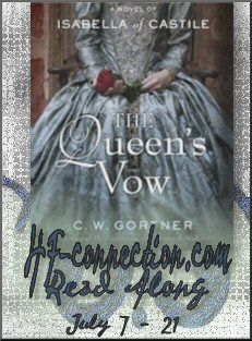 NEXT READ ALONG in July!  The Queen's Vow by C.W. Gortner